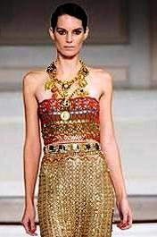 Eternal style ancient egyptian influence in modern times costume